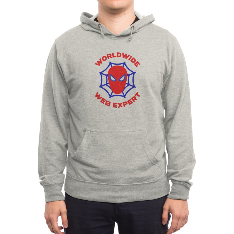 Worldwide Web Expert Funny T-shirt Men's Pullover Hoody by Made By Bono