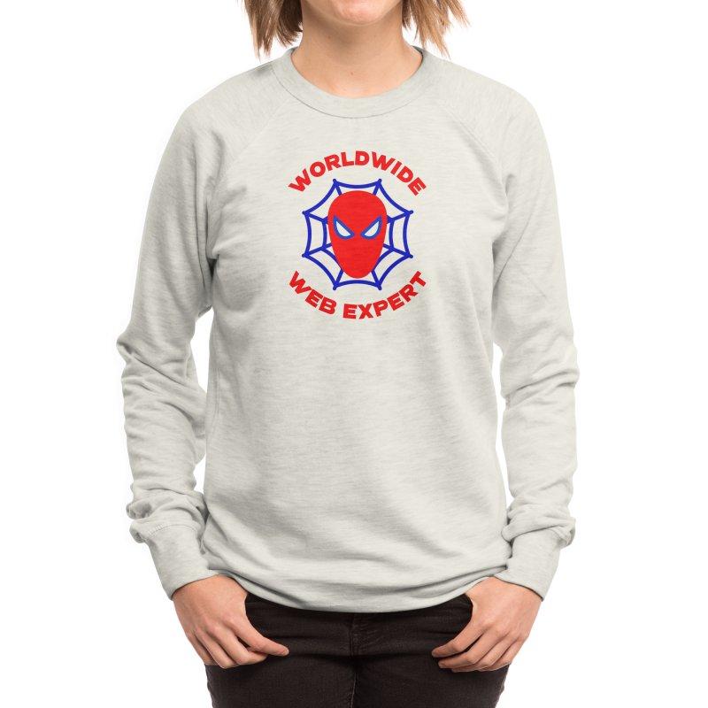 Worldwide Web Expert Funny T-shirt Women's Sweatshirt by Made By Bono