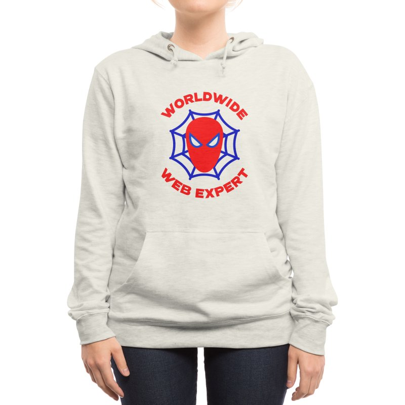 Worldwide Web Expert Funny T-shirt Women's Pullover Hoody by Made By Bono