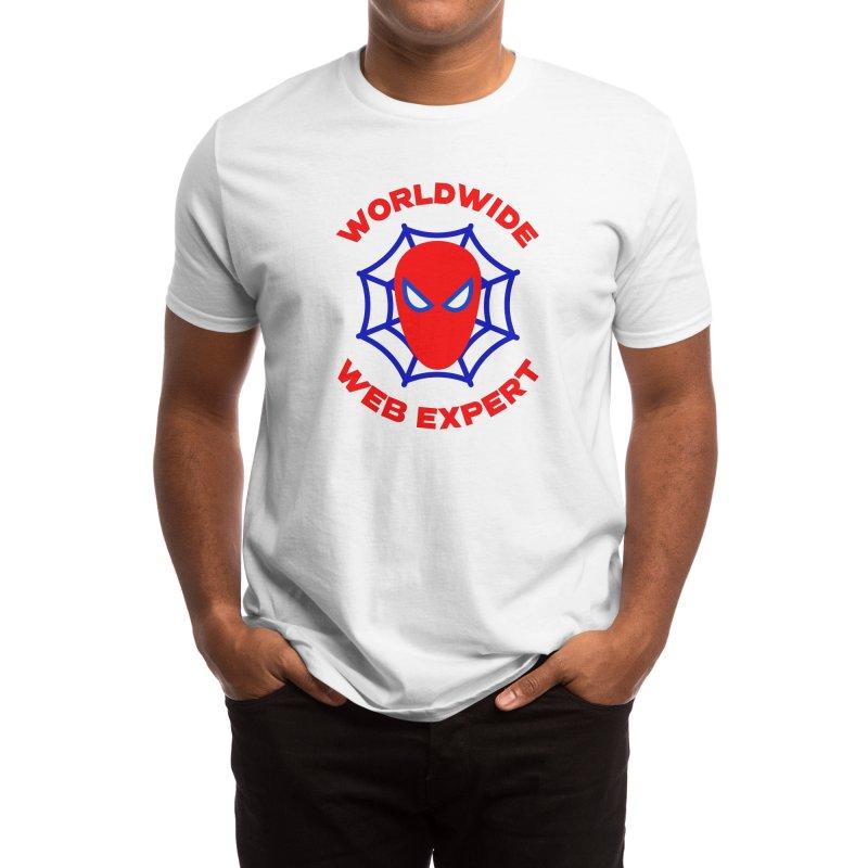 Worldwide Web Expert Funny T-shirt Men's T-Shirt by Made By Bono
