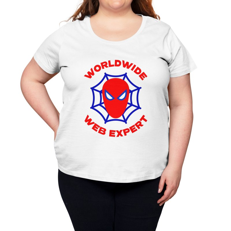 Worldwide Web Expert Funny T-shirt Women's Scoop Neck by Made By Bono