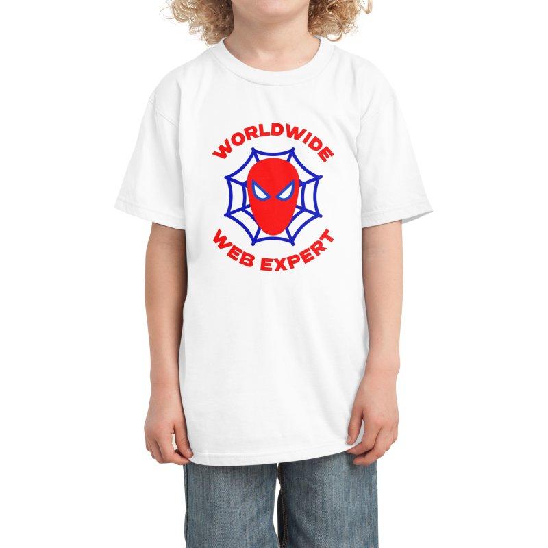 Worldwide Web Expert Funny T-shirt Kids T-Shirt by Made By Bono