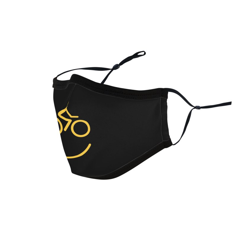 Bike Smiley Face Funny Cycling T-shirt Accessories Face Mask by Made By Bono
