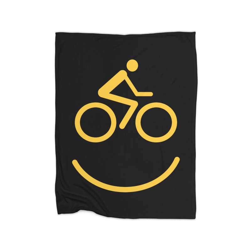 Bike Smiley Face Funny Cycling T-shirt Home Blanket by Made By Bono
