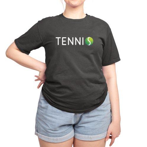 image for Tennis Ball Text, Tennis T-Shirt