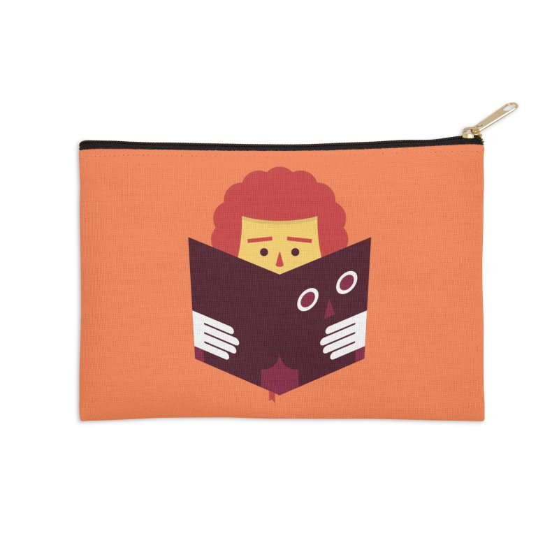 Back To School Funny Reading T-shirt Accessories Zip Pouch by MadeByBono
