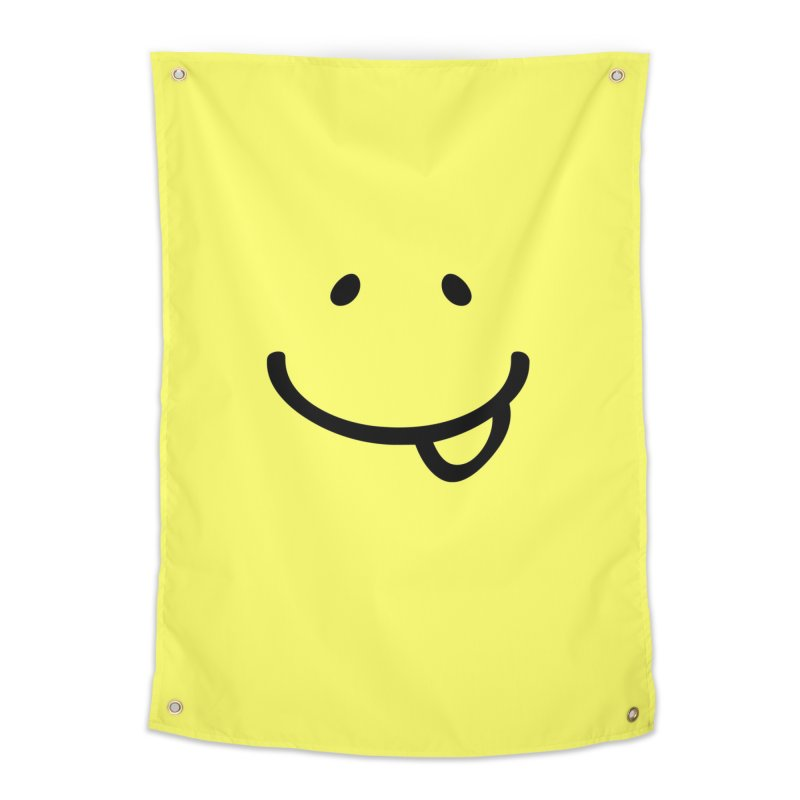 Smile Be Happy T-shirt Funny Smiley Face, Happiness Tee Home Tapestry by MadeByBono