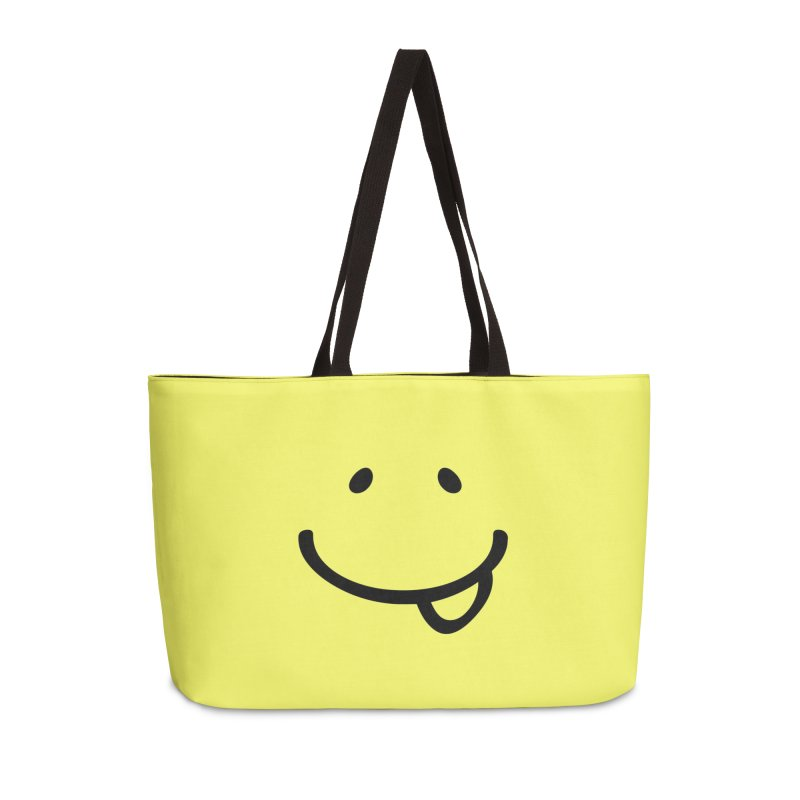 Smile Be Happy T-shirt Funny Smiley Face, Happiness Tee Accessories Weekender Bag Bag by MadeByBono