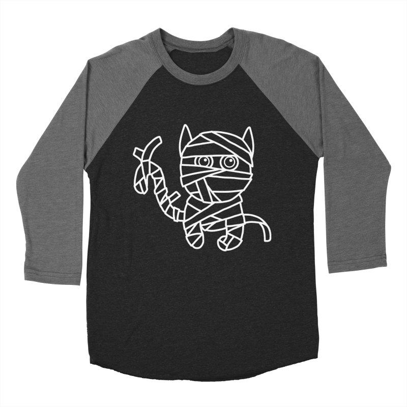 Mummy Cat Funny Halloween T-shirt Women's Baseball Triblend Longsleeve T-Shirt by MadeByBono