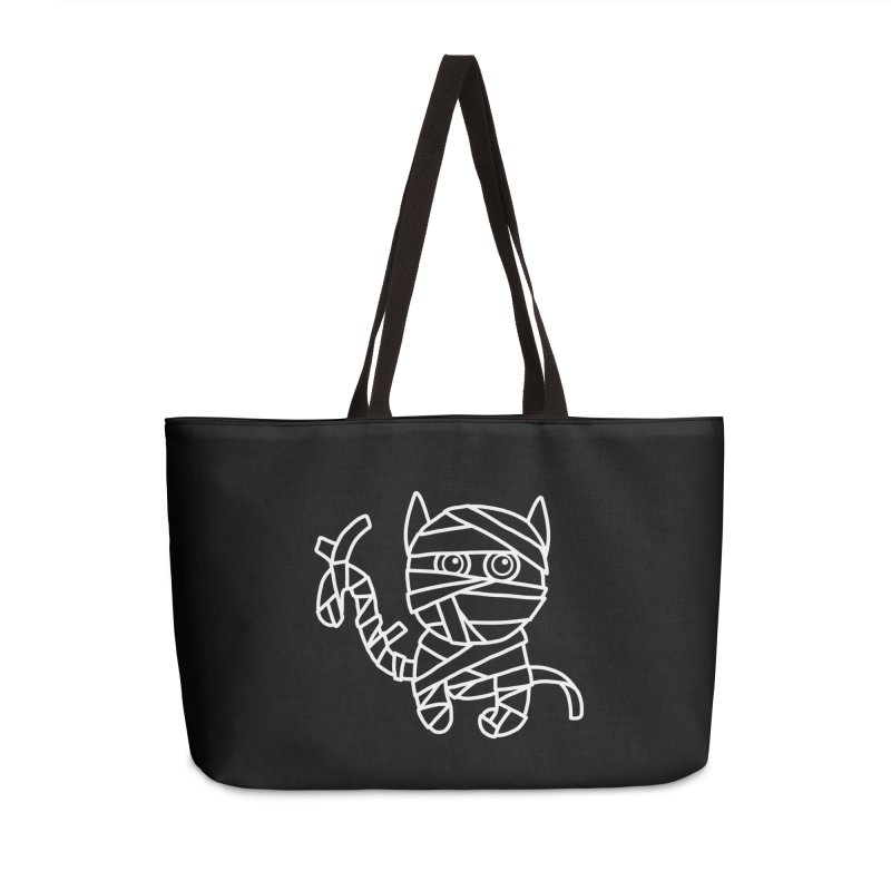 Mummy Cat Funny Halloween T-shirt Accessories Weekender Bag Bag by MadeByBono