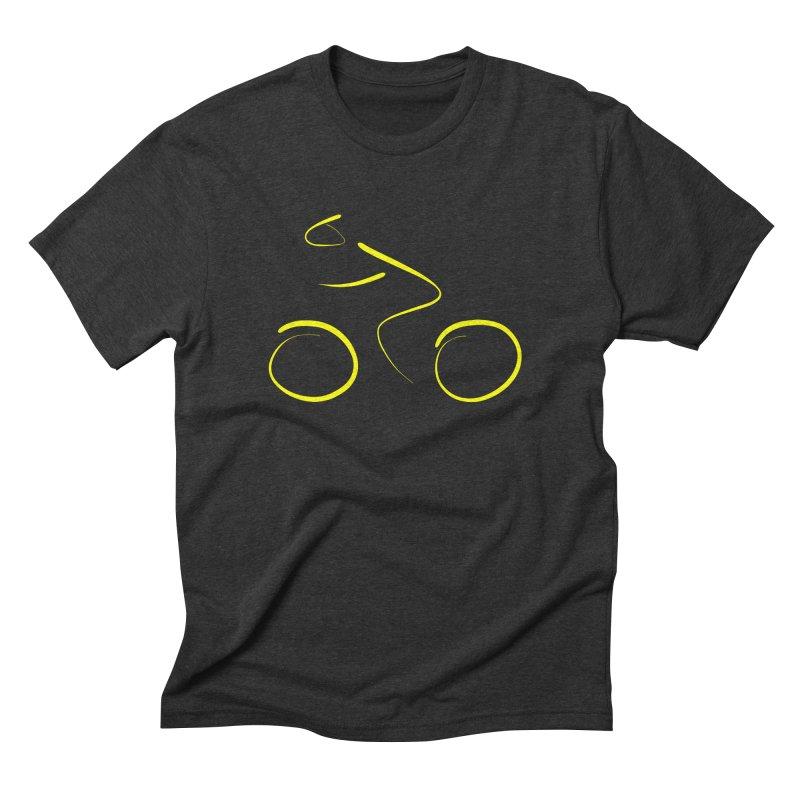 Bike lovers T-shirt Funny Cycling Shirt in Men's Triblend T-Shirt Heather Onyx by MadeByBono