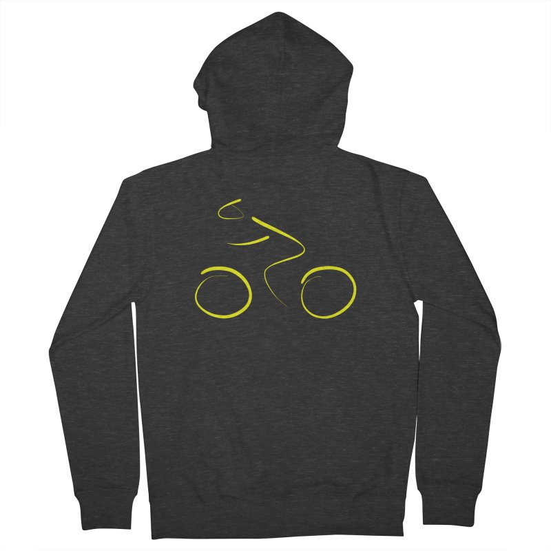 Bike lovers T-shirt Funny Cycling Shirt Men's French Terry Zip-Up Hoody by MadeByBono