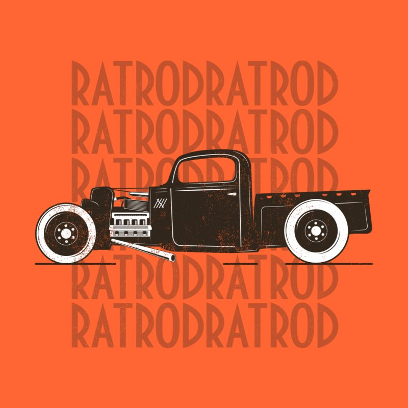 Rat Rod Hot Rod T-shirt Home Fine Art Print by Made By Bono
