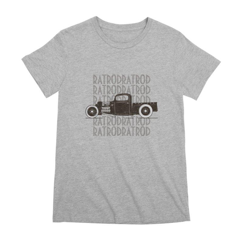 Rat Rod Hot Rod T-shirt Women's Premium T-Shirt by MadeByBono