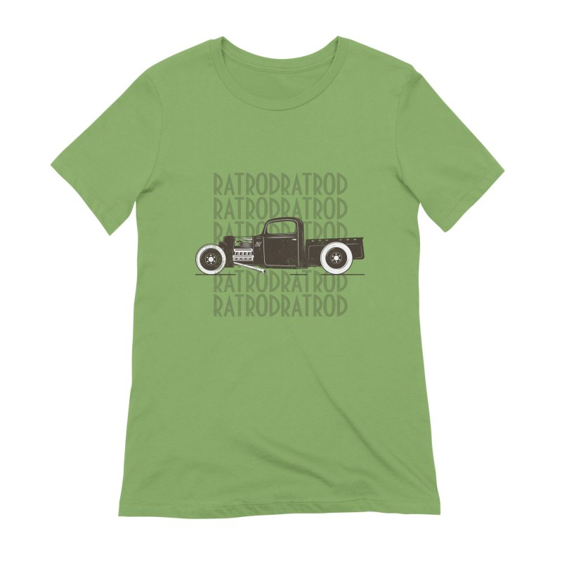 Rat Rod Hot Rod T-shirt Women's Extra Soft T-Shirt by MadeByBono
