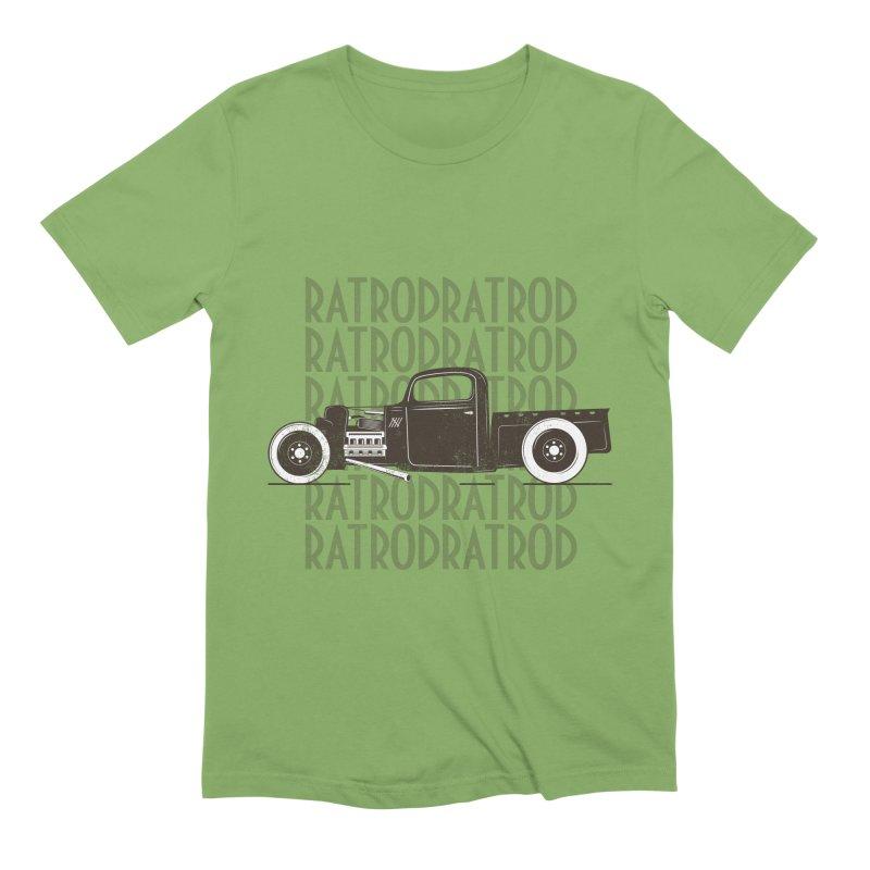 Rat Rod Hot Rod T-shirt Men's Extra Soft T-Shirt by MadeByBono