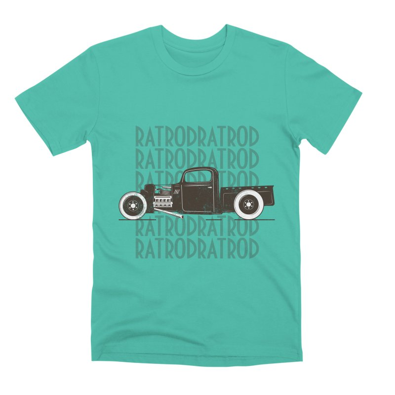 Rat Rod Hot Rod T-shirt Men's Premium T-Shirt by MadeByBono