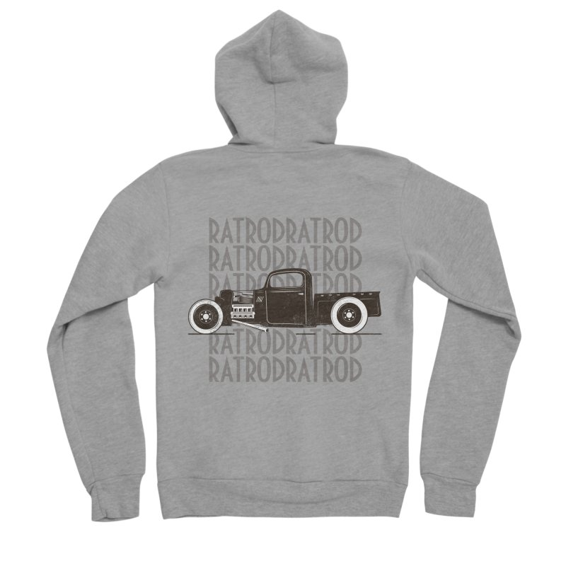 Rat Rod Hot Rod T-shirt Men's Sponge Fleece Zip-Up Hoody by MadeByBono