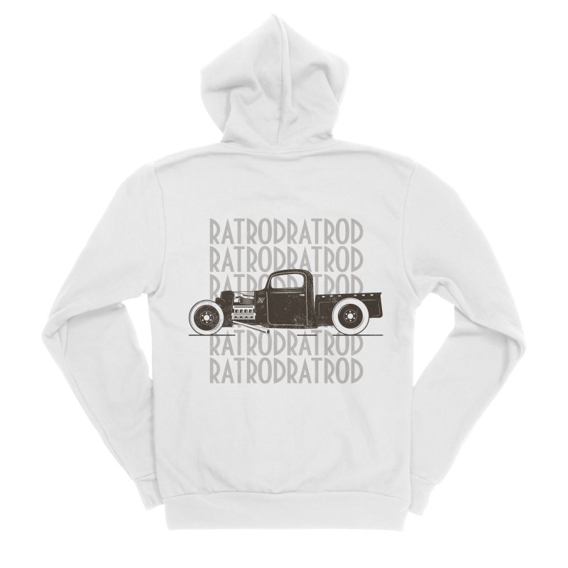Rat Rod Hot Rod T-shirt Men's Sponge Fleece Zip-Up Hoody by MadeByBono