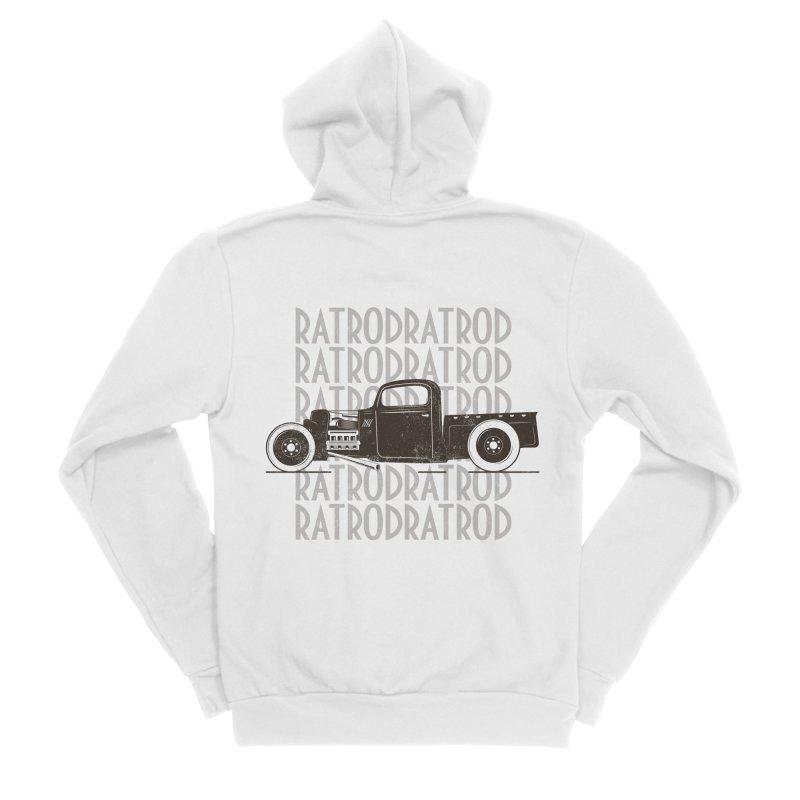 Rat Rod Hot Rod T-shirt Women's Sponge Fleece Zip-Up Hoody by MadeByBono
