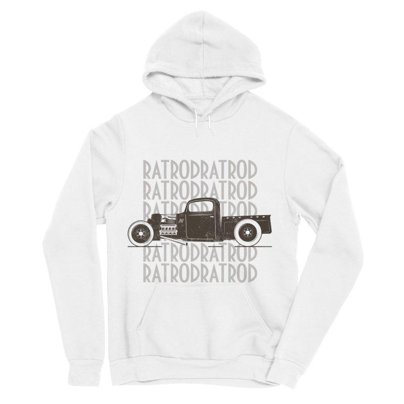 Rat Rod Hot Rod T-shirt Women's Sponge Fleece Pullover Hoody by MadeByBono
