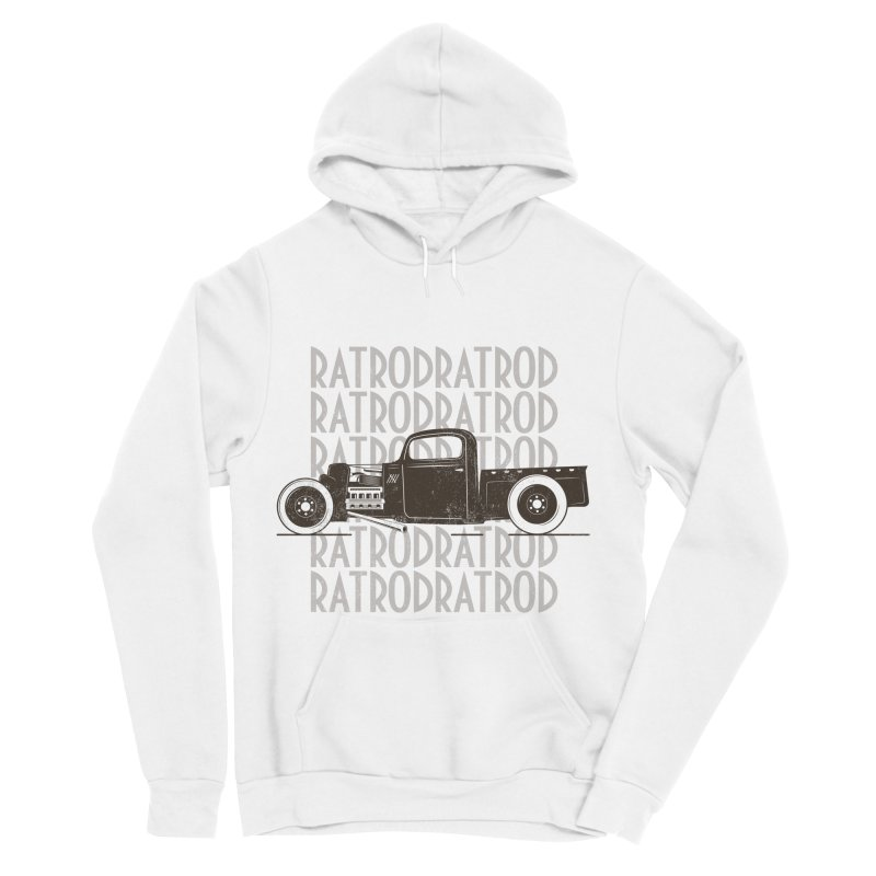 Rat Rod Hot Rod T-shirt Men's Sponge Fleece Pullover Hoody by MadeByBono