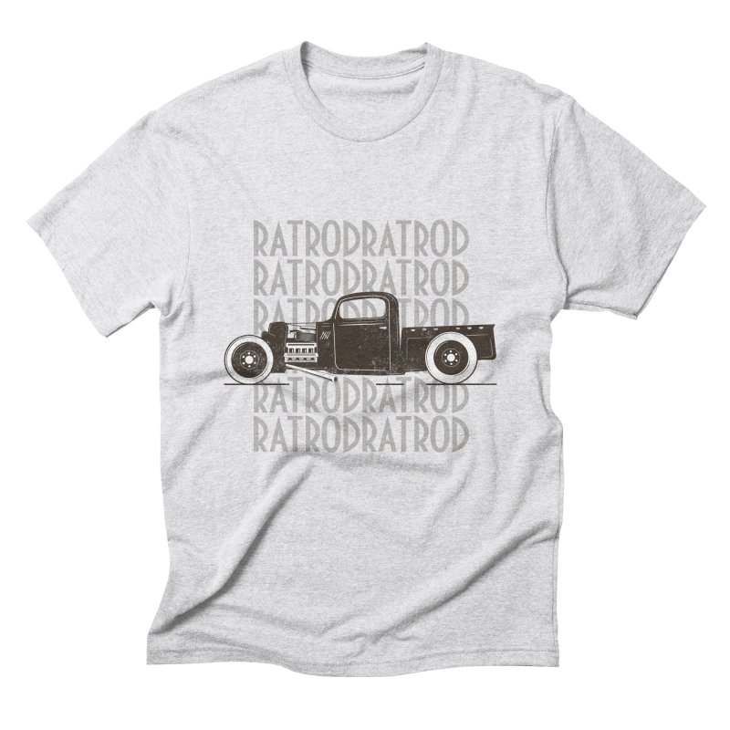 Rat Rod Hot Rod T-shirt in Men's Triblend T-Shirt Heather White by MadeByBono