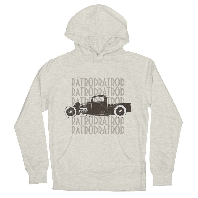 Rat Rod Hot Rod T-shirt Women's French Terry Pullover Hoody by MadeByBono