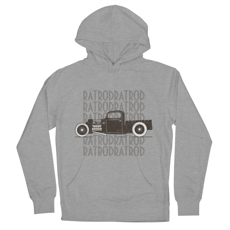Rat Rod Hot Rod T-shirt Men's French Terry Pullover Hoody by MadeByBono