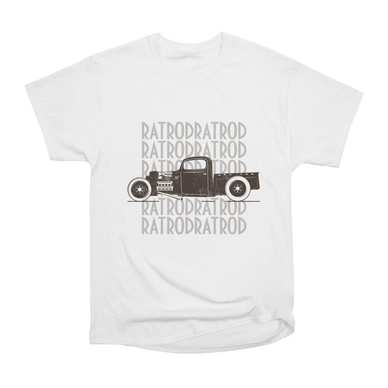 Rat Rod Hot Rod T-shirt Men's Heavyweight T-Shirt by MadeByBono
