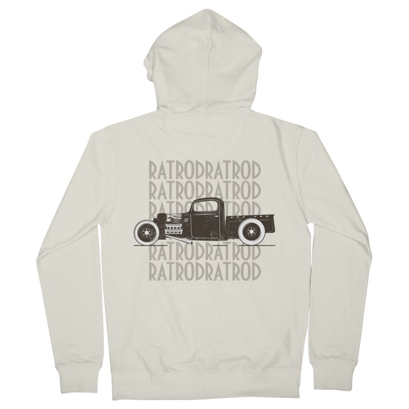 Rat Rod Hot Rod T-shirt Women's French Terry Zip-Up Hoody by MadeByBono