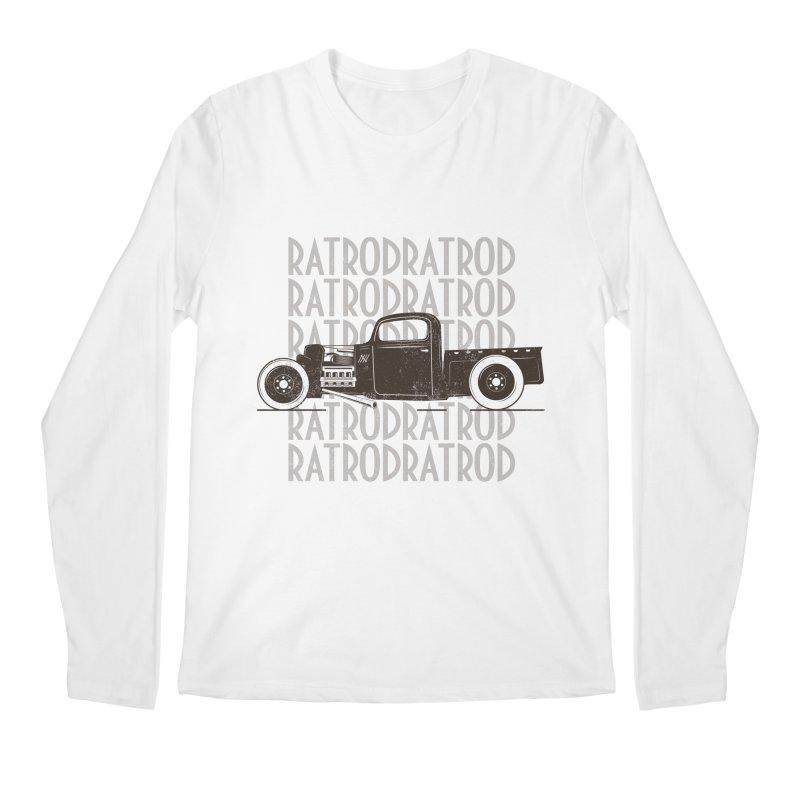 Rat Rod Hot Rod T-shirt Men's Regular Longsleeve T-Shirt by MadeByBono