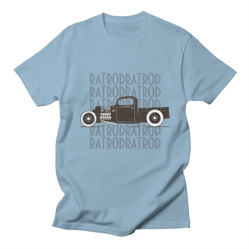 Rat Rod Hot Rod T-shirt Women's Regular Unisex T-Shirt by MadeByBono