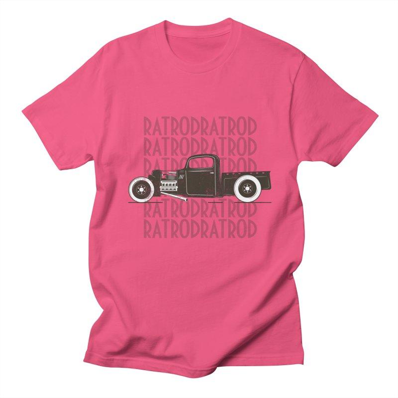 Rat Rod Hot Rod T-shirt Men's Regular T-Shirt by MadeByBono