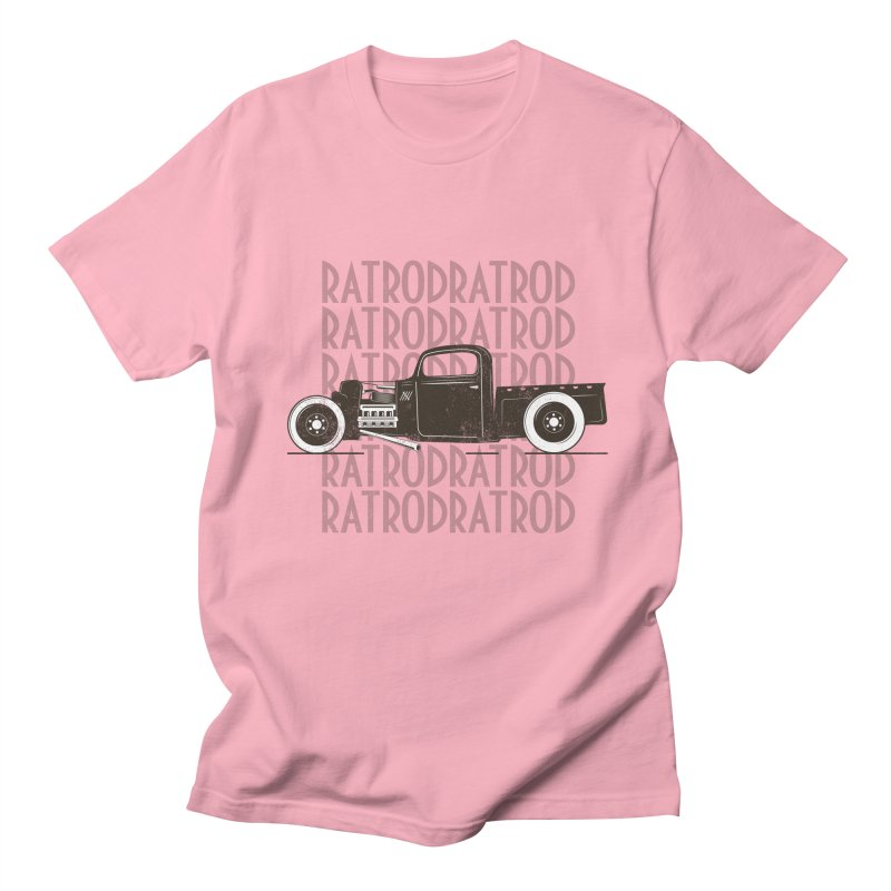 Rat Rod Hot Rod T-shirt Men's Regular T-Shirt by MadeByBono