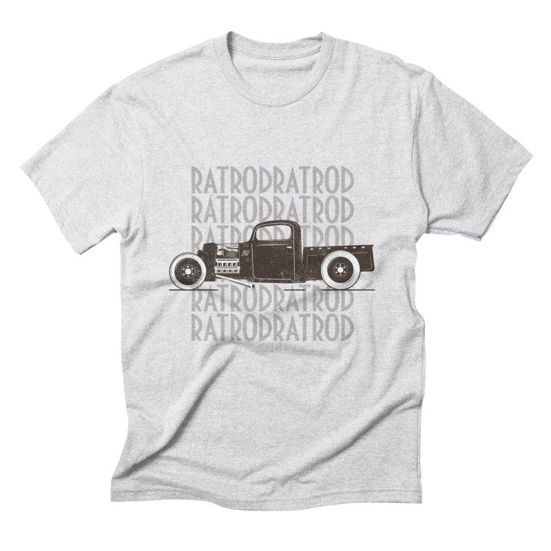 Rat Rod Hot Rod T-shirt Men's Triblend T-Shirt by MadeByBono