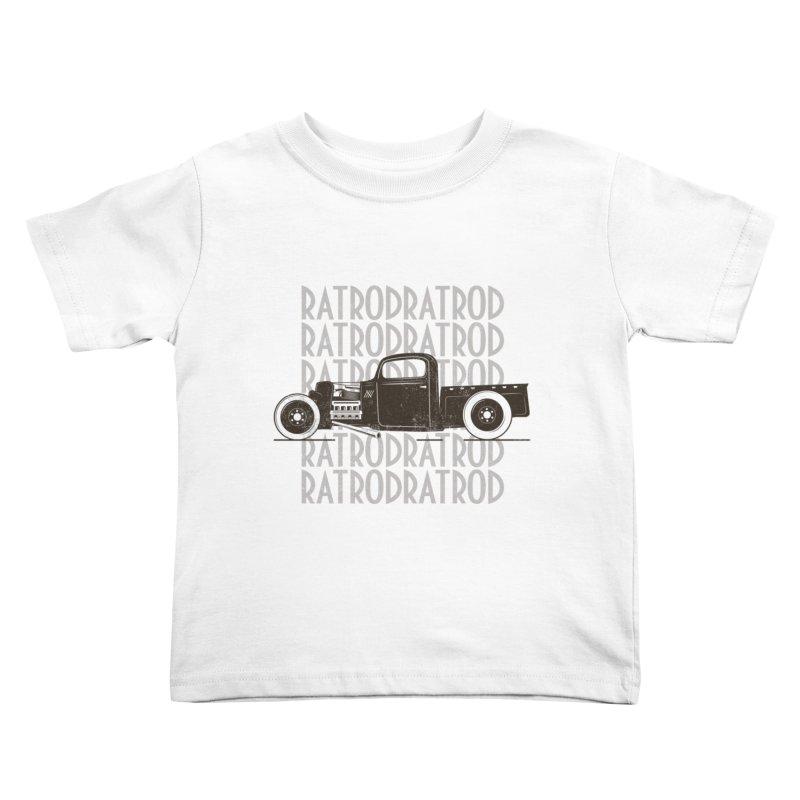Rat Rod Hot Rod T-shirt Kids Toddler T-Shirt by MadeByBono