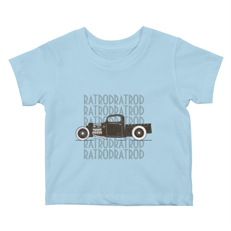 Rat Rod Hot Rod T-shirt Kids Baby T-Shirt by MadeByBono