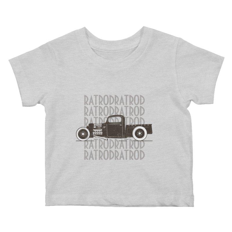 Rat Rod Hot Rod T-shirt Kids Baby T-Shirt by MadeByBono