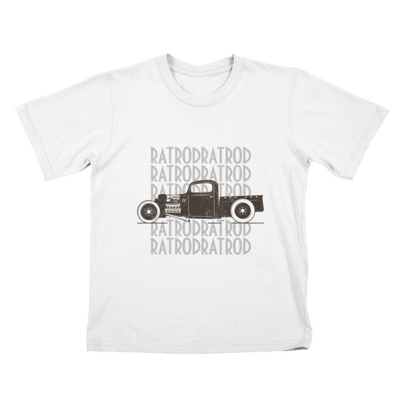Rat Rod Hot Rod T-shirt Kids T-Shirt by MadeByBono