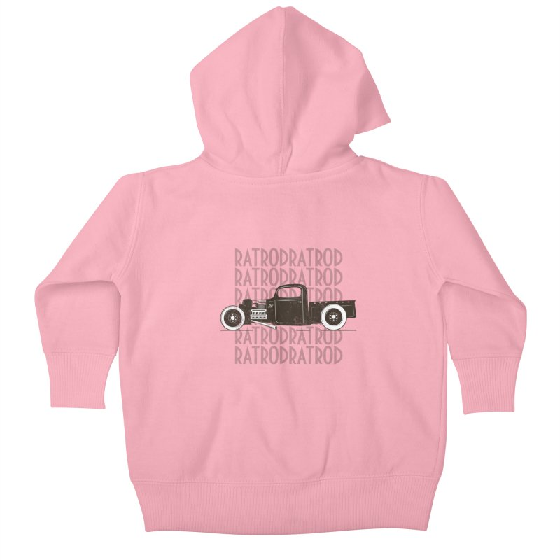 Rat Rod Hot Rod T-shirt Kids Baby Zip-Up Hoody by MadeByBono