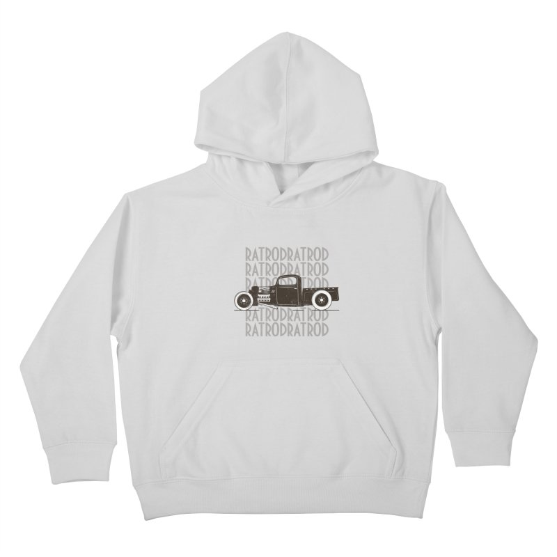 Rat Rod Hot Rod T-shirt Kids Pullover Hoody by MadeByBono