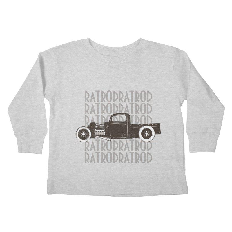 Rat Rod Hot Rod T-shirt Kids Toddler Longsleeve T-Shirt by MadeByBono