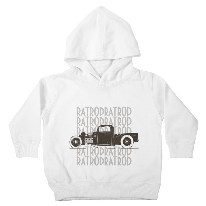 Rat Rod Hot Rod T-shirt Kids Toddler Pullover Hoody by MadeByBono