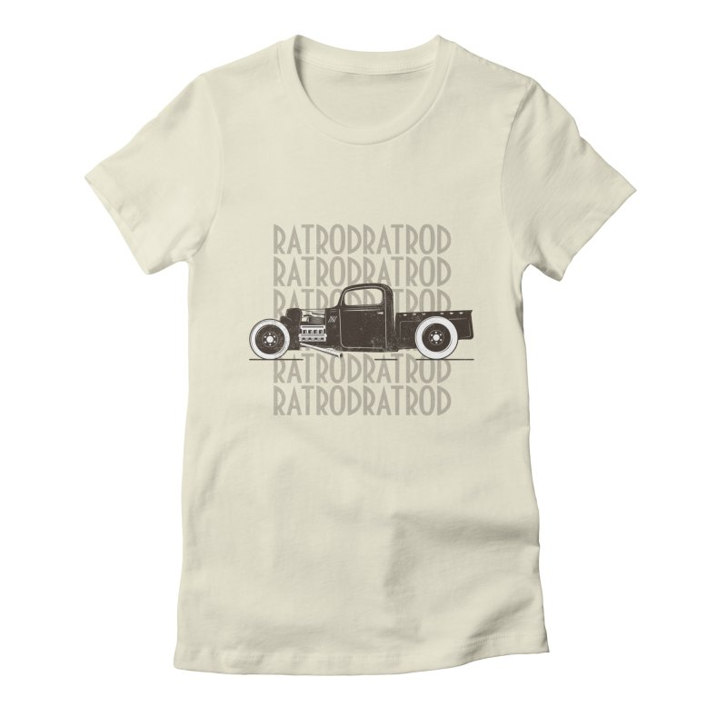 Rat Rod Hot Rod T-shirt Women's Fitted T-Shirt by MadeByBono