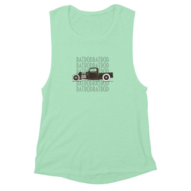 Rat Rod Hot Rod T-shirt Women's Muscle Tank by MadeByBono