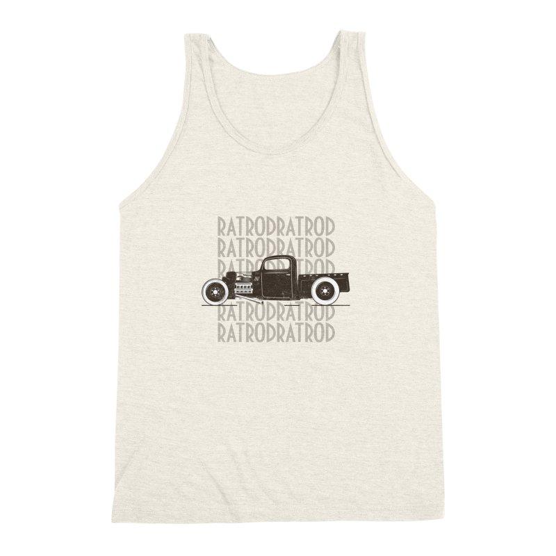 Rat Rod Hot Rod T-shirt Men's Triblend Tank by MadeByBono