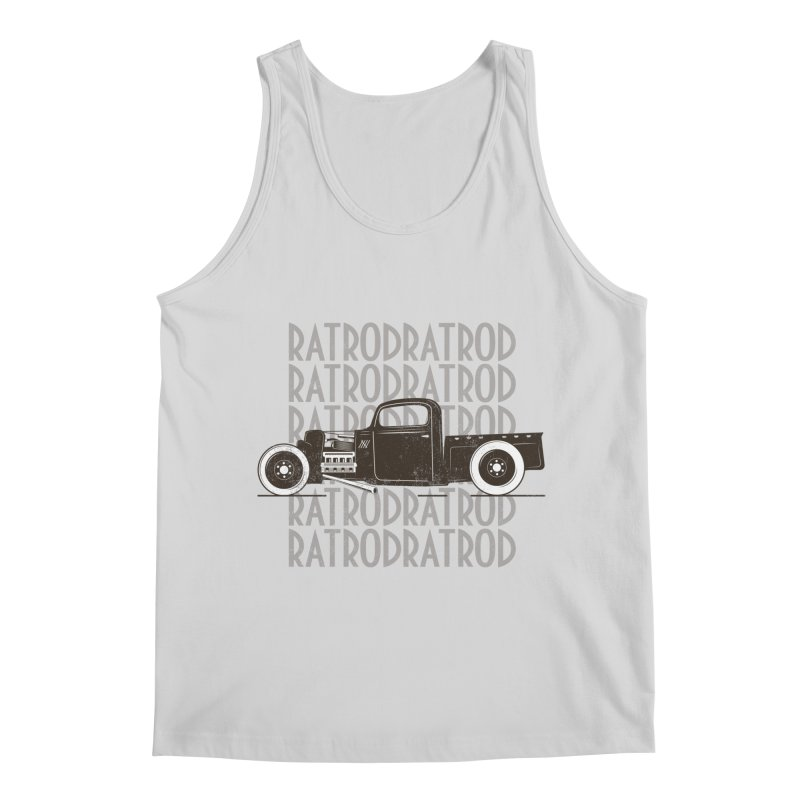 Rat Rod Hot Rod T-shirt Men's Regular Tank by MadeByBono