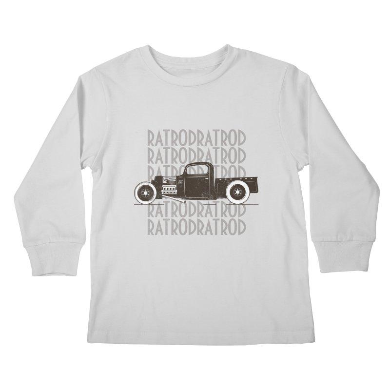 Rat Rod Hot Rod T-shirt Kids Longsleeve T-Shirt by MadeByBono