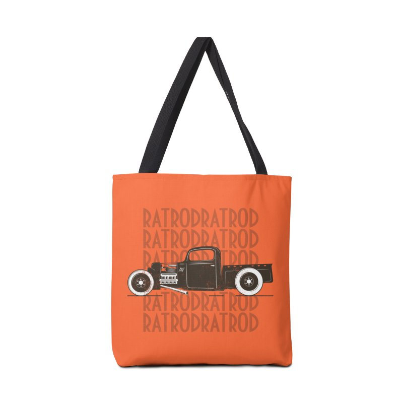 Rat Rod Hot Rod T-shirt Accessories Tote Bag Bag by MadeByBono